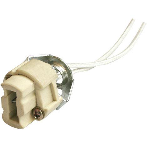 Portalámparas halógeno bi-pin G9 sin soporte 250 V Con cable fibra de vidrio de 15 cm Electro DH. 12.073/SS 8430552121212