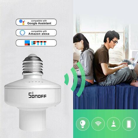 portalámparas inteligente WiFi 433MHz RF inalámbrico E27 obras asiento del soporte de Alexa de Amazon y Google Inicio / Smart Home Nido Mohoo