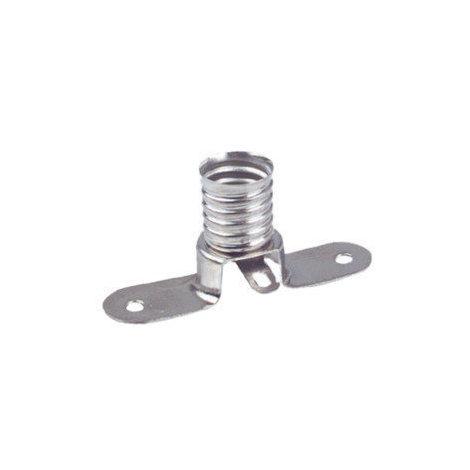 Portalámparas metálico a rosca E-10 Electro DH. Con conexión soldable 12.026 8430552074228