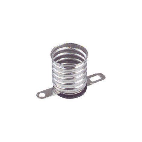 Portalámparas metálico a rosca E-10 Terminales soldables Electro DH 12.018 8430552070244