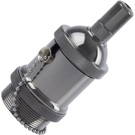 Portalámparas Metalizado Design con Interruptor para Bombillas LED E27
