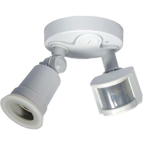 Portalámparas para bombilla LED E27 con sensor de movimiento PIR 180º IP44