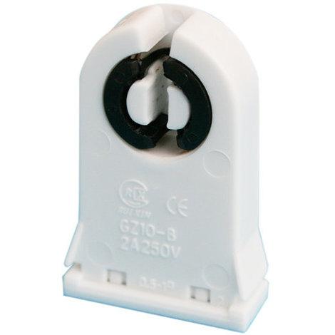 Portalámparas para tubo fluorescente tipo T8 Casquillo G13 Color blanco Electro DH. 12.142/T8 8430552141616