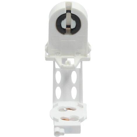 Portalamparas para tubos + portacebador G13 Blanco