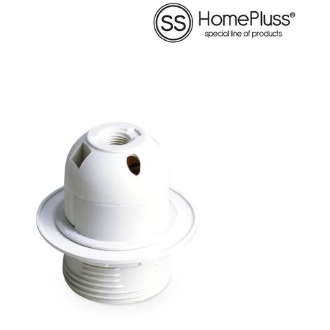 Portalamparas termoplastico E27 Blanco -10u retractil