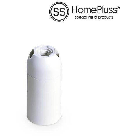 Portalamparas termoplastico liso E14 Blanco- 10u retractil