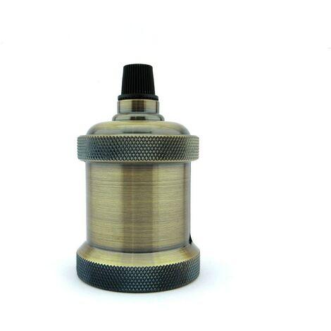 Portalámparas vintage E27 color oro nuevo