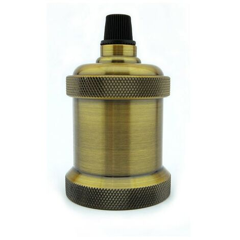 Portalámparas vintage E27 color oro viejo - Oro viejo