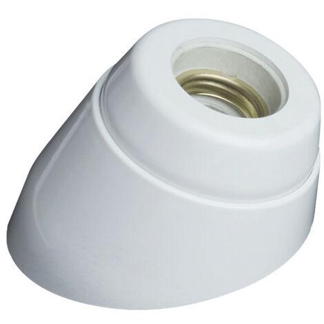 Portalámparas zócalo curvo blanco con interior de porcelana E27 4A 250V (GSC 2200736)