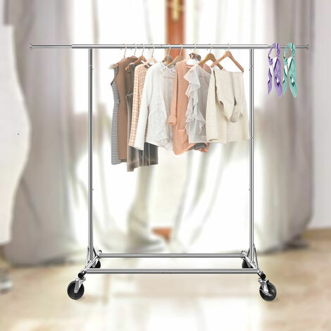 Portant à Vêtement Mobile Porte Vêtement pour Chambre Salon Balcon