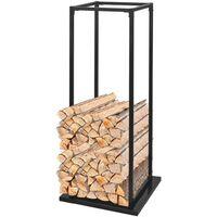 Portant de bois de chauffage avec base 113 cm