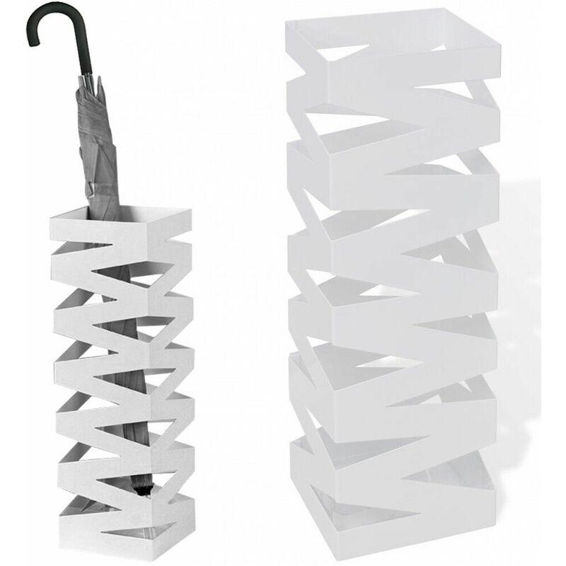 Portaombrelli Ferro Battuto Bianco.Portaombrelli Porta Ombrello In Ferro Battuto Quadrato Con