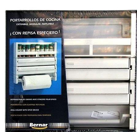 Portarollos triple cocina Bernar c/especiero 7/0506