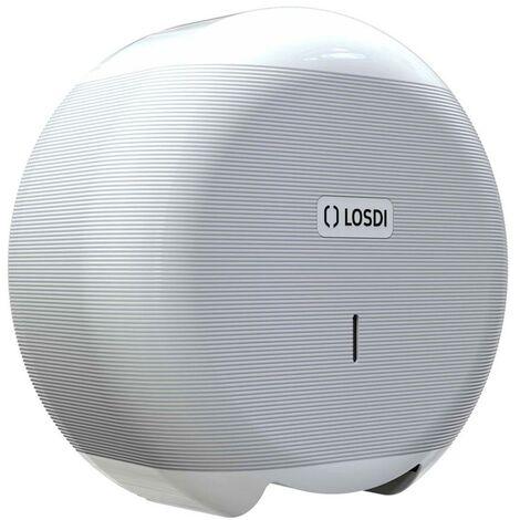 Portarrollo Baño Industrial 266X276X115Mm Abs Blanco Eco Luxe Losdi 1 Ud Cp-3006-B