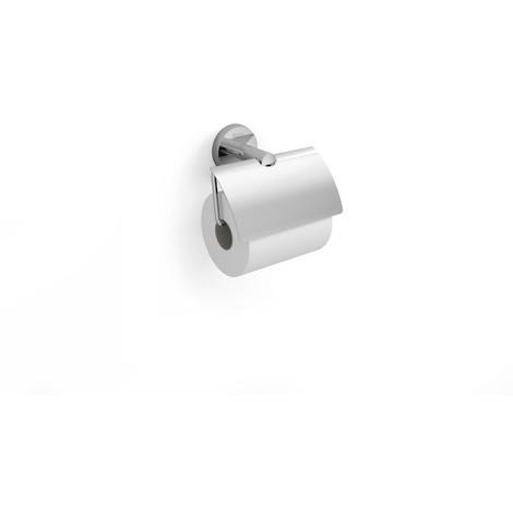 Portarrollo con tapa (Posibilidad de instalación mediante tornillería o adhesivo) - Serie Twin - Roca