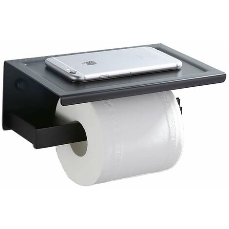 Portarrollo papel higiénico con un estantería Soporte de papel cepillado Para Papel Higiénico Bandeja De Papel Higiénico baño SS 304 Acero Inoxidable
