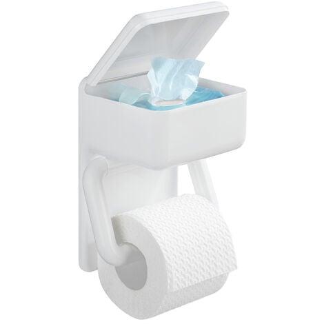 Portarrollos de papel higiénico con repisa para pañuelos desechables
