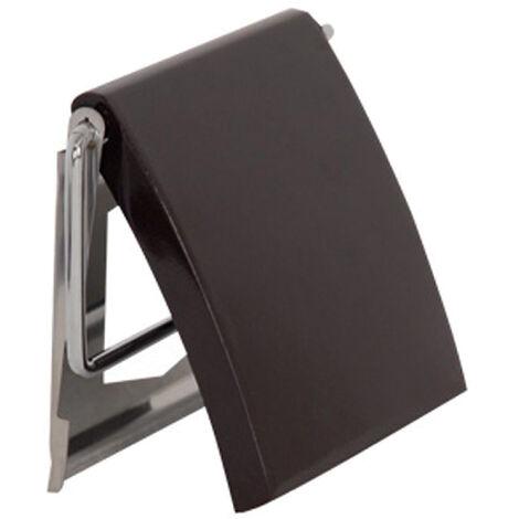 Portarrollos de papel MSV de acero inoxidable en color negro mate 13 x 15 x 11,5 cm