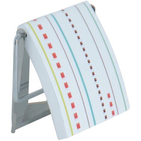 Portarrollos de papel MSV de acero inoxidable multicolor 13 x 15 x 11,5 cm