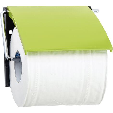 Portarrollos MSV de plastico y metal cromado en color verde