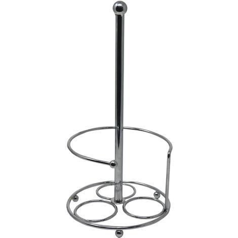 Portarrollos Papel Cocina Vertical, de Acero Inoxidable. Diseño Moderno, con estilo Original (31cm X 15cm) - Hogar y Más