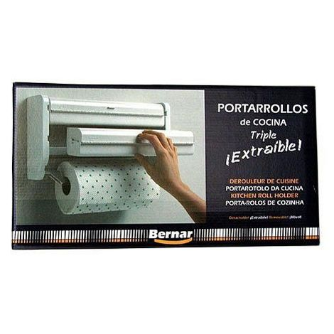 PORTARROLLOS PAPEL TRIPLE 7 510