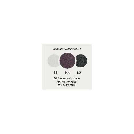 Portarrollos sin tapa Provenza Negro forja fijación opcional con adhesivo - CM Baños