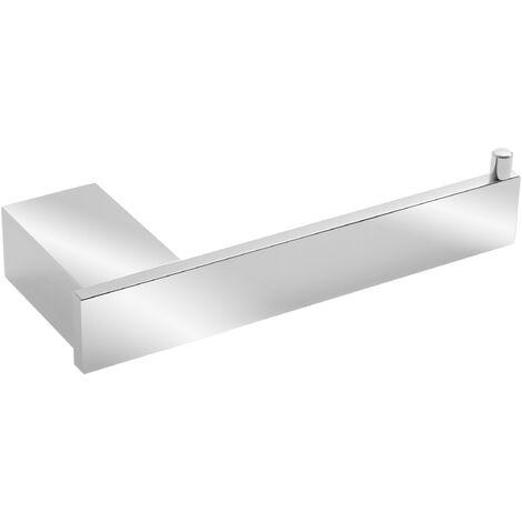 Portarrollos sin tapa TATAY de aluminio. Sistema de fijación con tornillos (7,2x3,8x18,5 cm)