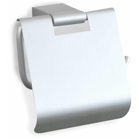 Portarrollos TATAY con tapa de aluminio, modelo ICE. Sistema de fijación con tornillos.