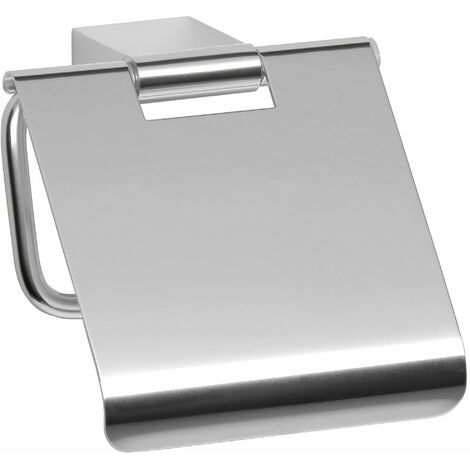 Portarrollos TATAY con tapa de aluminio. Sistema de fijación con tornillos (14x7x2,5 cm)