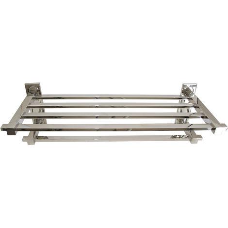 Portatoallas de acero inoxidable tubo cuadrado - CM Baños