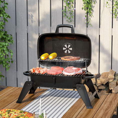"""main image of """"Portbale Outdoor Camping Charcoal BBQ Grill Stove Folding Leg Garden Smoker Cook"""""""
