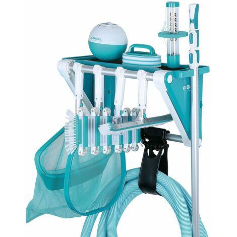 Porte accessoires piscine multifonctionnel