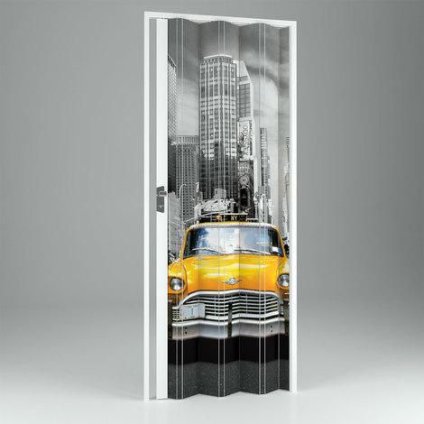 Porta Pliante Accordeon Interieur En Pvc New York 89 5x214 Cm Mod
