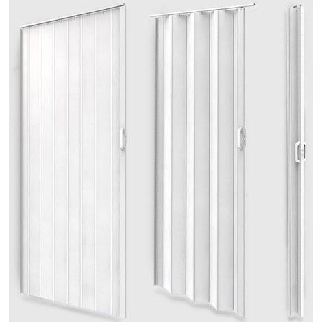 Porte accord on pliante coulissante extensible pvc salle de bain 203 cm - Porte salle de bain coulissante ...