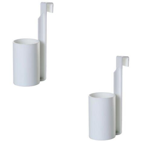 Porte aérosol blanc - Lot de 2 - Astuceo