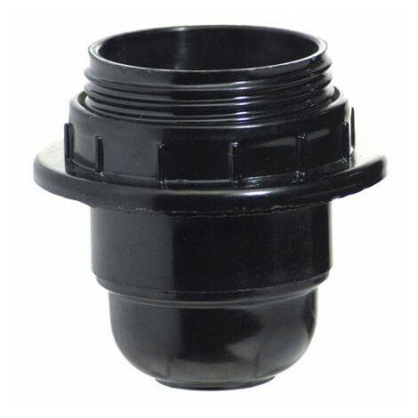 Porte-ampoules 4 a. e-27 avec filetage + rondelle noire