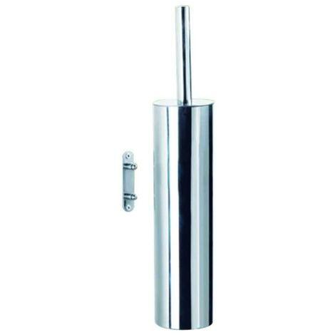 Porte balai wc - Décor : Chromé - Diamètre : 75 mm - Hauteur : 400 mm - Matériau : Acier inoxydable - OCMEI - Matériau : Acier inoxydable