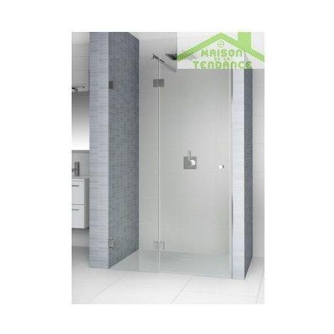 Porte battante de douche universelle RIHO SCANDIC S104 en verre clair