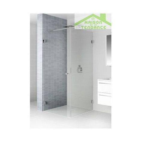 Porte battante de douche universelle RIHO SCANDIC S201 en verre clair