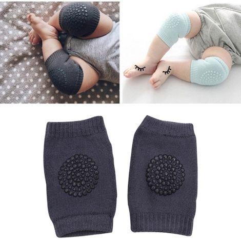 Porte bébé gris Une paire anti-dérapant enfants rampant marche protège-genou protection protège-coude