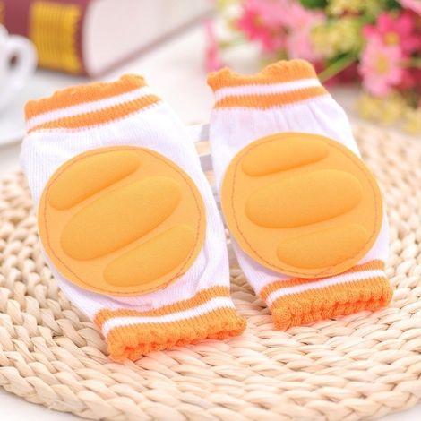 Porte bébé Orange Une paire ventilée enfants rampant marche protège-genou protection protège-coude