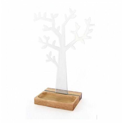 Porte bijoux arbre - 21 x 10,5 x 31 cm - Bambou - Transparent - Livraison gratuite