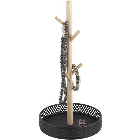 Porte bijoux en bois Merge - H. 31 cm - Noir