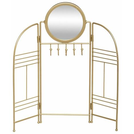 Porte-Bijoux en Métal Design Feel 33cm Or