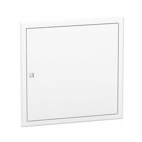 Porte blanche Resi9 pour bac d'encastrement - 2x13 modules - Hauteur 590mm
