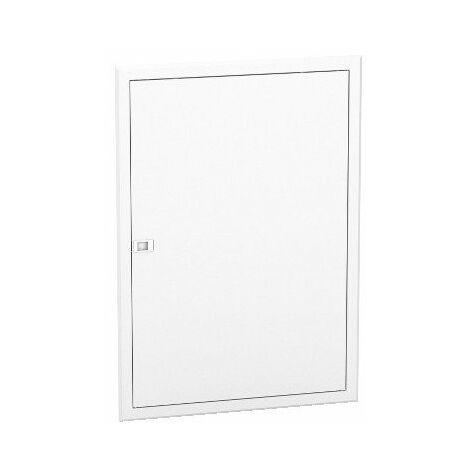 Porte blanche Resi9 pour bac d'encastrement - 2x13 modules - Hauteur 840mm
