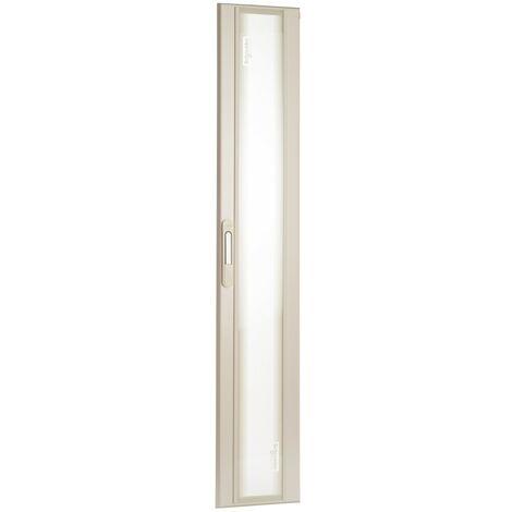 Porte blanche verre transparente pour gaine d'armoire 300mm 33 modules avec serrure à clé (N°405) SCHNEIDER 08294