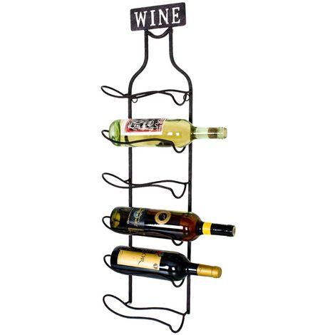 Métal étagère à vin bouteilles étagère bouteilles bouteilles support étagère Noir mat