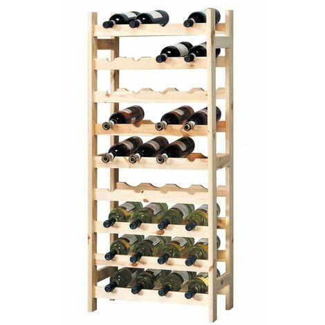 Porte bouteilles en bois - Meuble de rangement pour bouteilles - Livraison gratuite